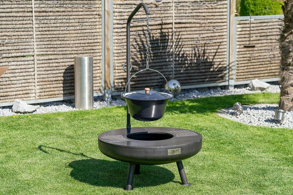 Feuerschale Ignis 75 Set die Feuerstelle aus Schweizer Produktion. Als komplettes Set.