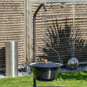 Lionfire - Feuerschale Ignis 75 Set die Feuerstelle aus Schweizer Produktion. Grillarm für sämtliche Lionfire Grills und Feuerschalen.