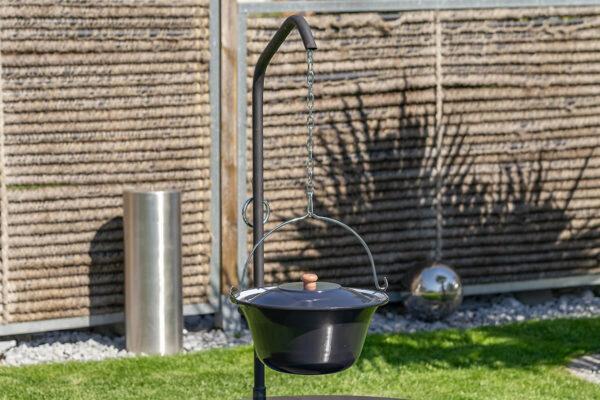 Feuerschale Ignis 75 Set die Feuerstelle aus Schweizer Produktion. Grillarm für sämtliche Lionfire Grills und Feuerschalen.