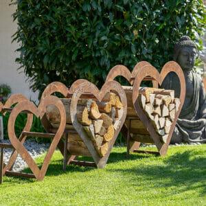 Lionfire - Dekorative Holzregal-Herz und -Stern