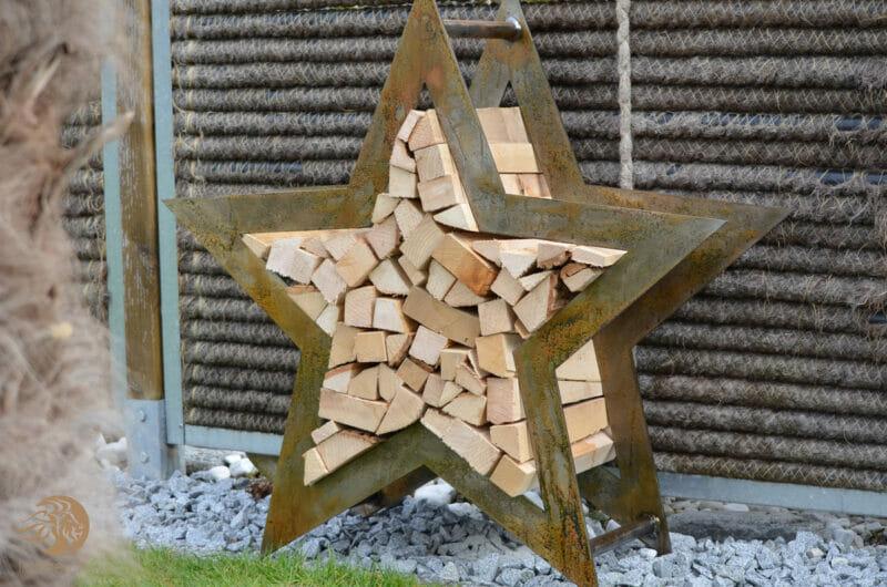 Holzregal Stern Lionfire