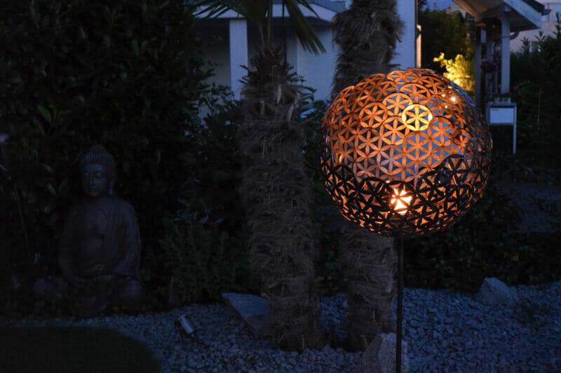 Lionfire Feuerkugel Blume Des Lebens Nachts