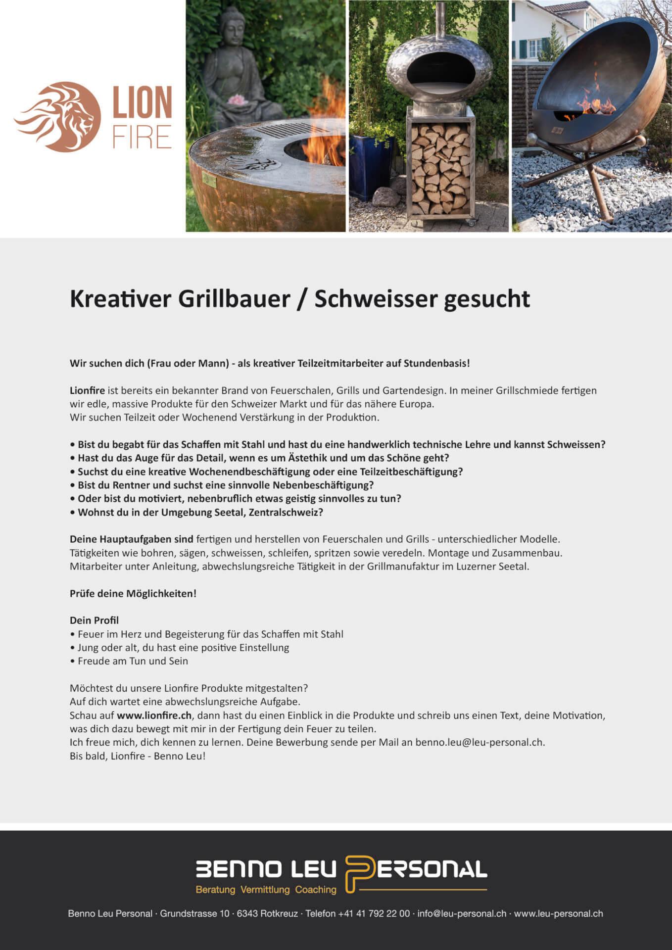 Kreativer Grillbauer / Schweisser gesucht