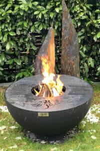Design Feuerschale und Grill in schwarz - Lionfire